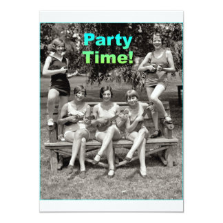 "Party Time! 5"" X 7"" Invitation Card"