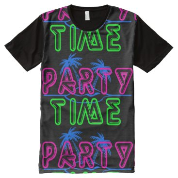 Beach Themed Party Time All-Over-Print Shirt