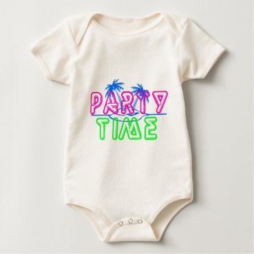 Beach Themed Party Time Baby Bodysuit