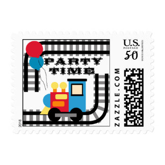 Party Time Birthday Train Postage Stamps