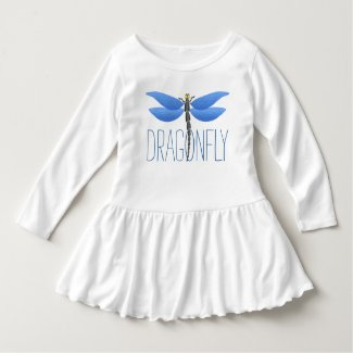 Party time! Blue dragonfly personalized Dress