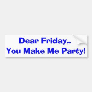 Party Time! Bumper Sticker