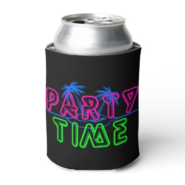 Beach Themed Party Time Can Cooler