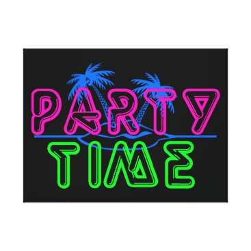 Beach Themed Party Time Canvas Print