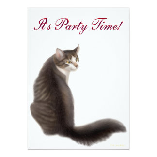 Party Time Cat Invitation