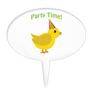 Party Time! Chick Cake Toppers
