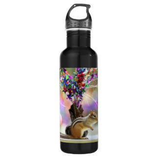 Party Time Chipmunk Picture Stainless Steel Water Bottle