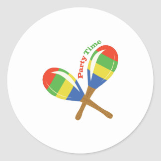 Party Time Classic Round Sticker