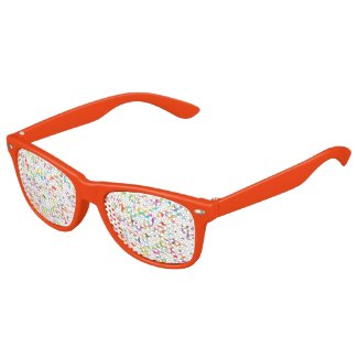 Party Time Colorful Confetti Toss Artwork Kids Sunglasses