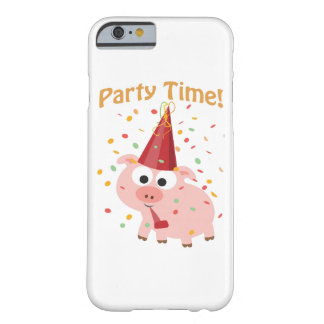 Party time confetti Pig Barely There iPhone 6 Case