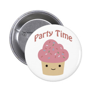 Party Time Cupcake Button
