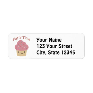 Party TIme Cupcake Label