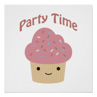 Party TIme Cupcake Poster