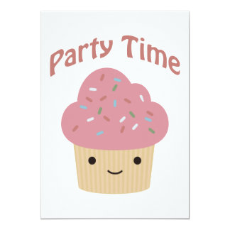 Party Time! Cute Cupcake Party Invitation