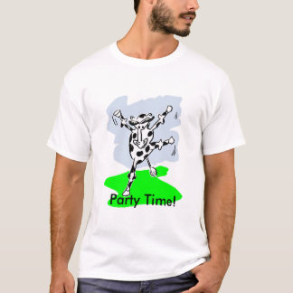 Party time! dancing cow cartoon men t-shirt