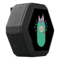 Party Time Emoji Llama Black Bluetooth Speaker