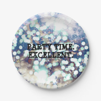 Party Time. Excellent. 7 Inch Paper Plate