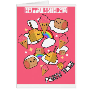 Party Time Food Birthday Card