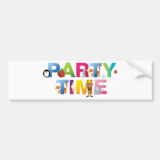 party time for kids car bumper sticker