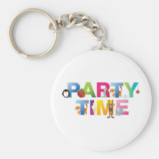 party time for kids keychain
