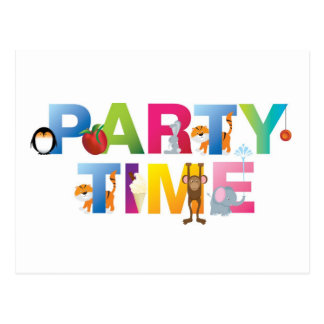 party time for kids postcards