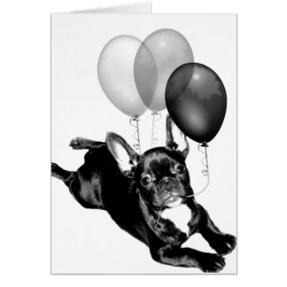 Party time French Bulldog greeting card
