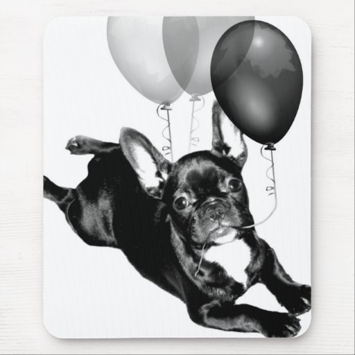 Party time French Bulldog mousepad