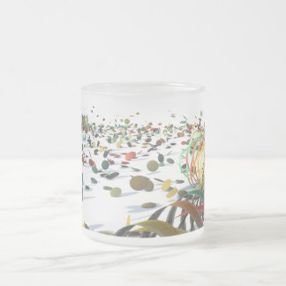 Party time frosted glass coffee mug