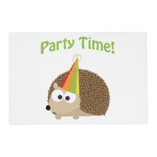 Party Time Hedgehog Placemat