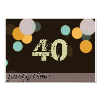 Party Time 3.5x5 Paper Invitation Card