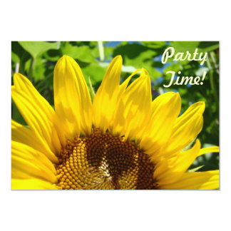 Party Time! Invitations Sunflowers Celebrations