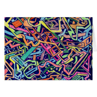 Party Time Maze Gifts Line Greeting Card