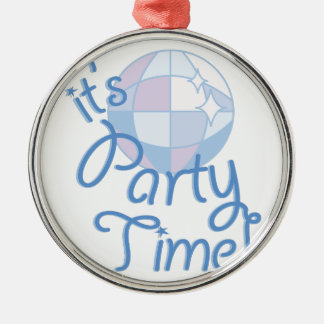 Party Time Metal Ornament