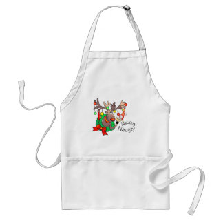 PARTY TIME NAUGHTY SANTA by SHARON SHARPE Adult Apron