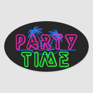 Party Time Oval Sticker