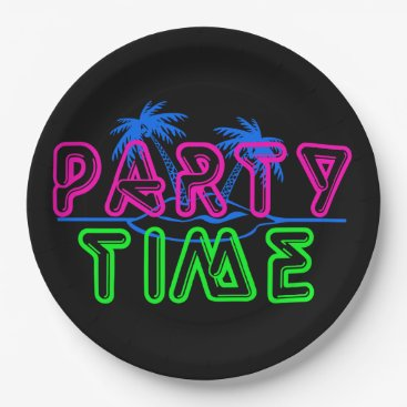 Beach Themed Party Time Paper Plate