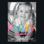 """Party Time Photo Birthday Invitation<br><div class=""""desc"""">Personalize this fresh and modern Birthday invitation with your favorite photo! More colors available at berryberrysweet.com     com</div>"""