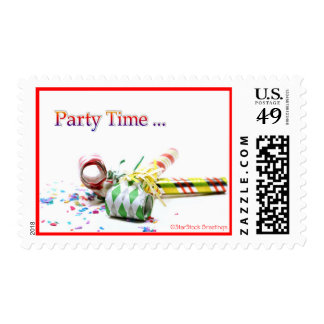 Party Time Postage Stamp