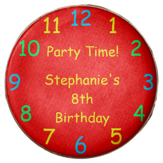 Party Time, Red, 8th Birthday Chocolate Dipped Oreo
