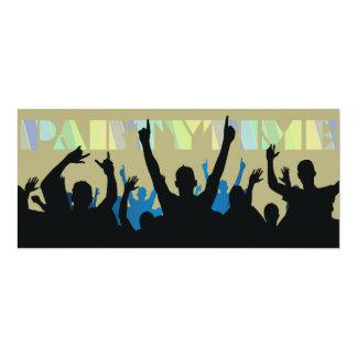 "Party Time Silhouettes Invitation 4"" X 9.25"" Invitation Card"