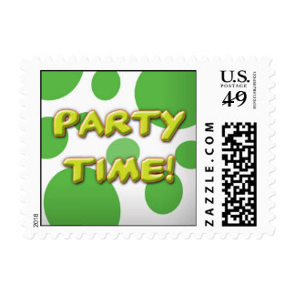 Party Time Stamp Green Spots