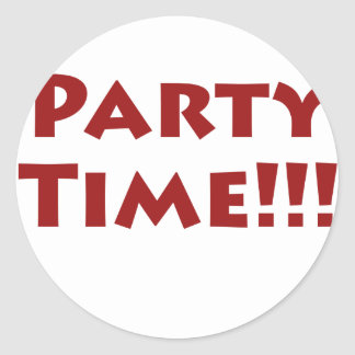 Party Time Round Stickers