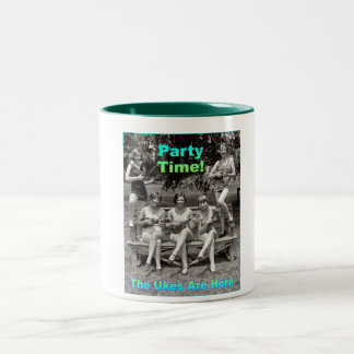 Party Time! The Ukes Are Here Two-Tone Coffee Mug