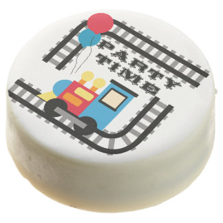 Party Time Train Birthday Dipped Oreos