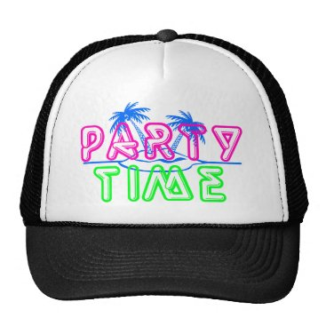 Beach Themed Party Time Trucker Hat