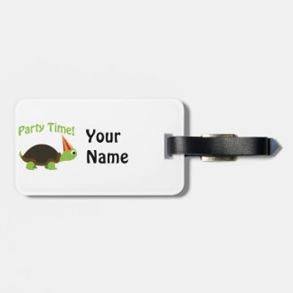 Party Time! Turtle Bag Tag