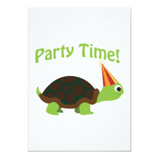 Party Time Turtle Invitation