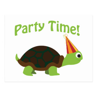 Party Time! Turtle Postcard