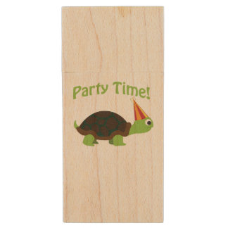Party Time! Turtle Wood Flash Drive