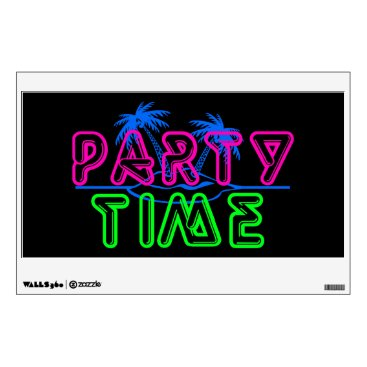 Beach Themed Party Time Wall Sticker